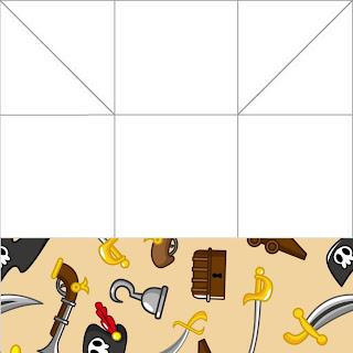 cajita-invitación de piratas para imprimir gratis