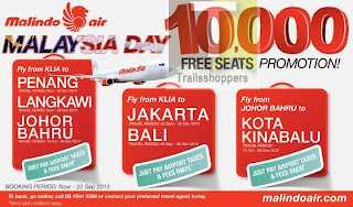 Malindo Air 10000 FREE Seats Promotion 2013