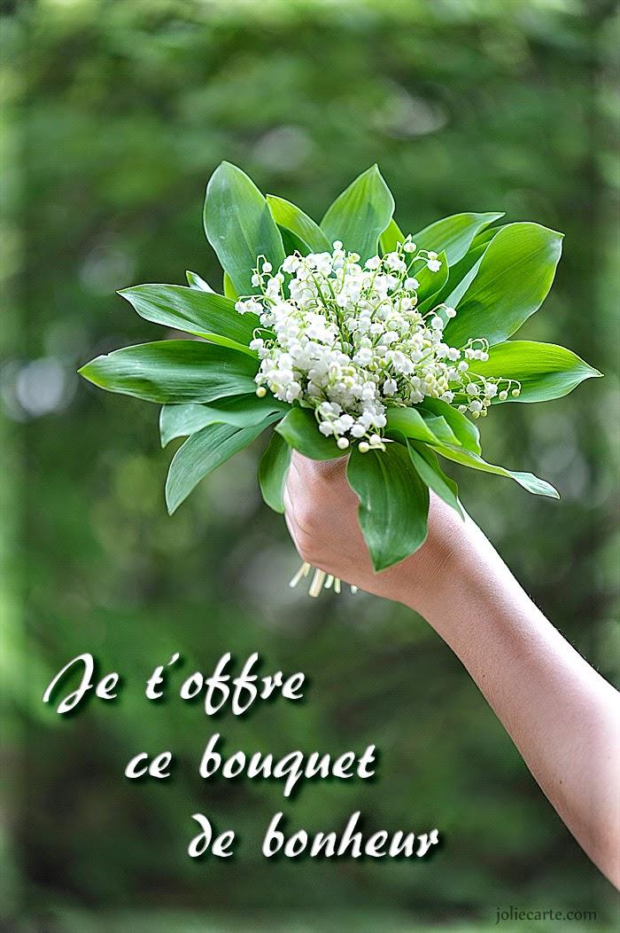 Bouquet de bonheur par Jolie carte