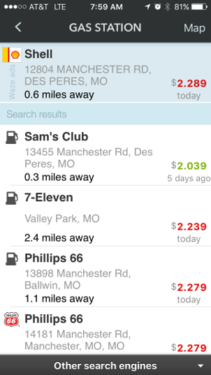 Best Gas Prices >> One Cool Tip Com Running Out Of Gas Let Waze Show You The Best Prices