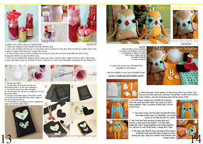 Natali Topliff - Magazine for Art and Craft Hobbyists, Pages 13 and 14