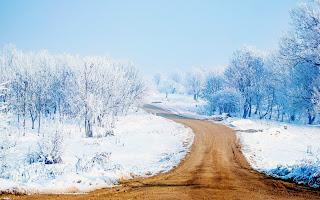 Snow Way HD Wallpaper