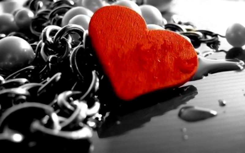 image de coeur coeur rouge fond noir et blanc. Black Bedroom Furniture Sets. Home Design Ideas