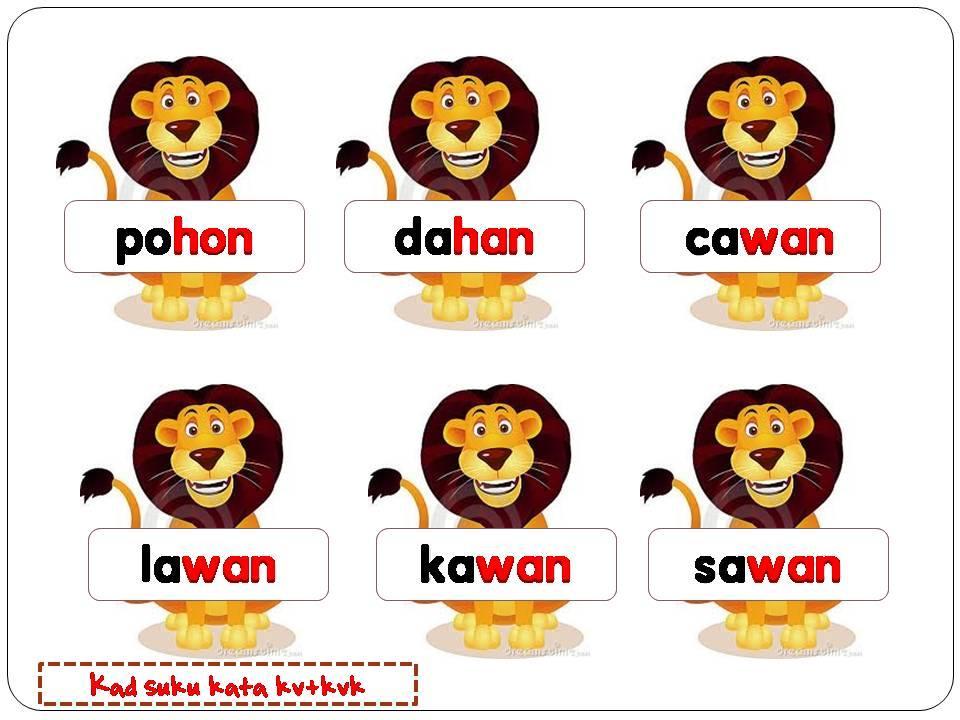Bahasa Melayu Suku Kata Kv Kvk Lessons Tes Teach