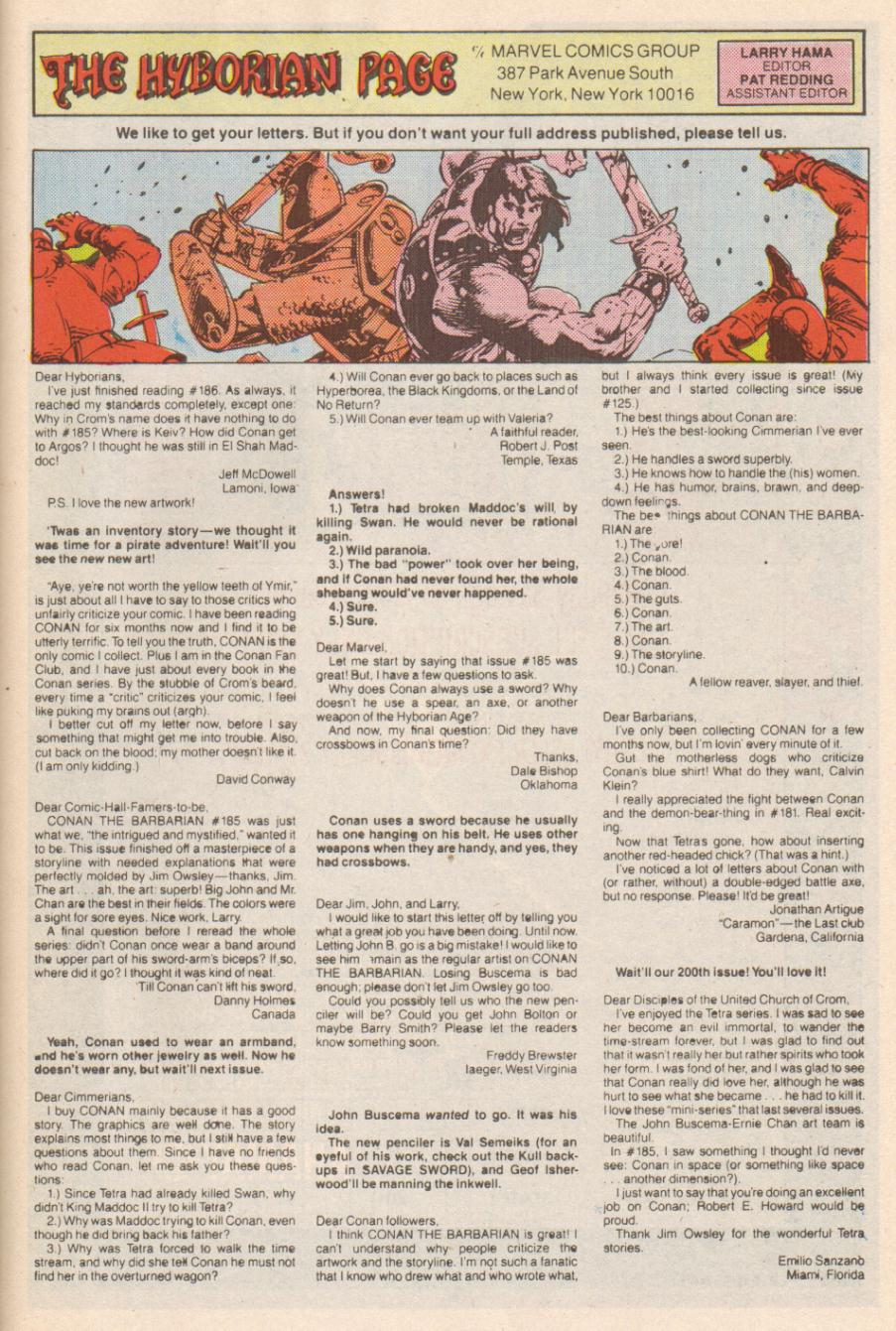Conan the Barbarian (1970) Issue #191 #203 - English 24