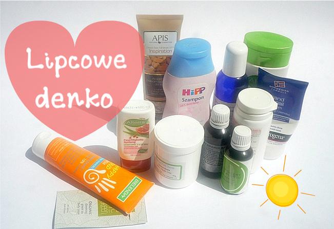 kosmetyki zużyte w lipcu