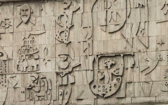 """""""Evolução das Artes Cênicas"""" - um mural de Poty Lazzarotto"""