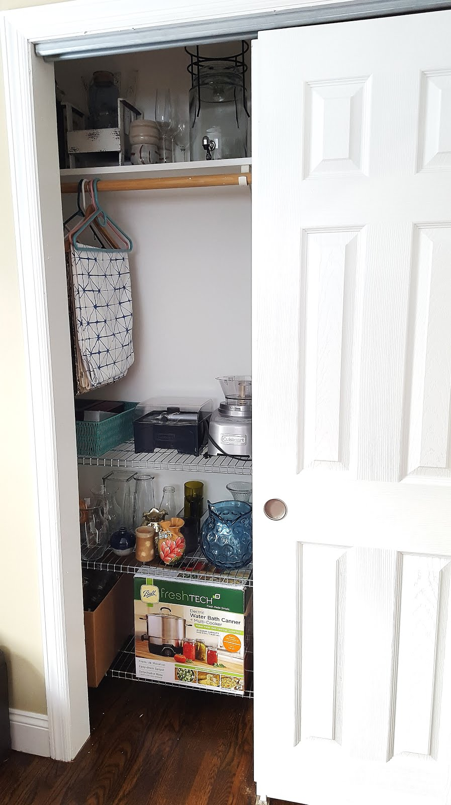 Craftybridge getting organized dining room closet for Dining room useless