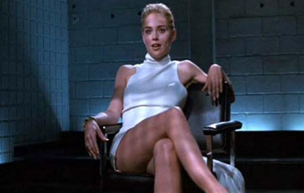 Sharon Stone flashed her vagina. The similarities end there.