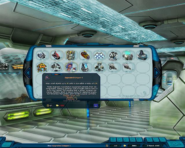 Space Rangers: A War Apart - Equipment Store Screenshot