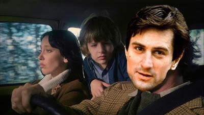 hombre y su familia dentro de un auto