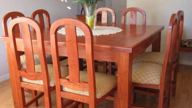 Muebleria elizett for Comedor 8 sillas madera
