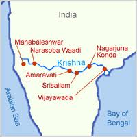 krishna river map