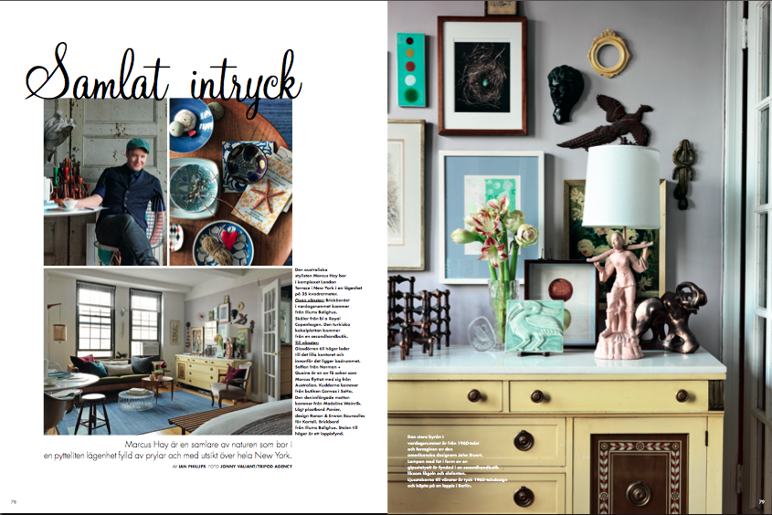 Marcus Hay Fluff N Stuff Swedish Elle Interior Magazine Apartment Feature Layout