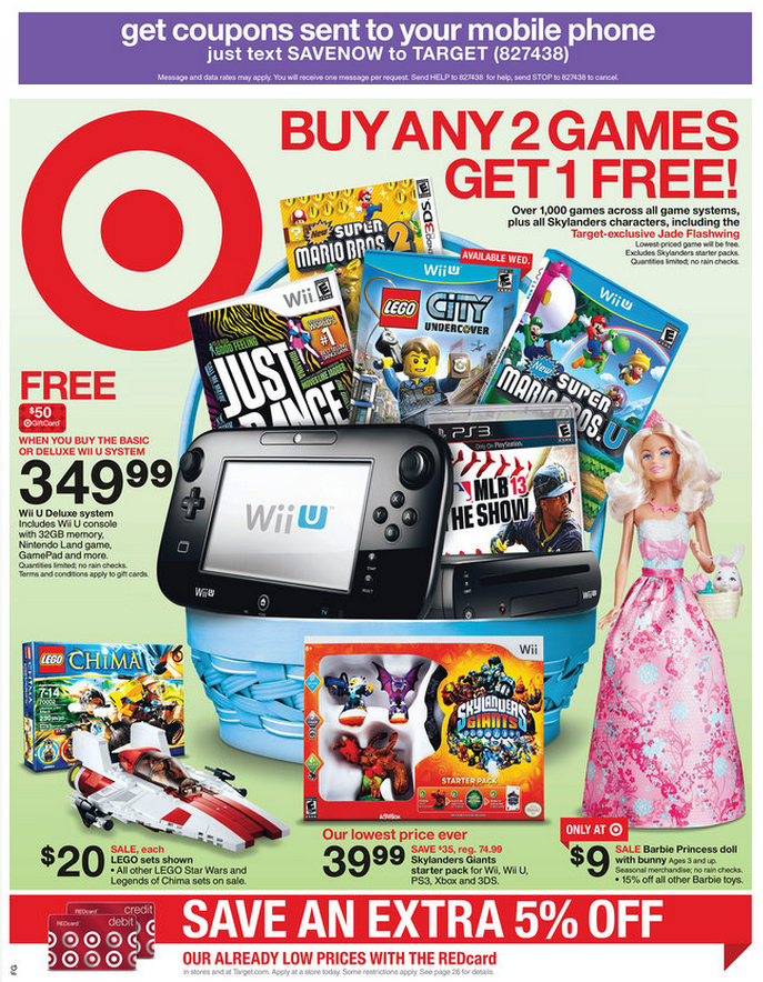 Target Sale Wii Games