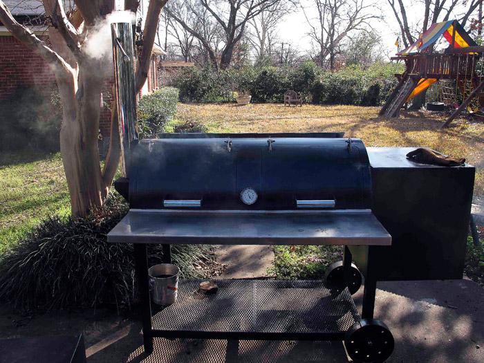 Jambo Backyard Pit Review : Texas BBQ Posse Pit Talk How to smoke a great backyard brisket