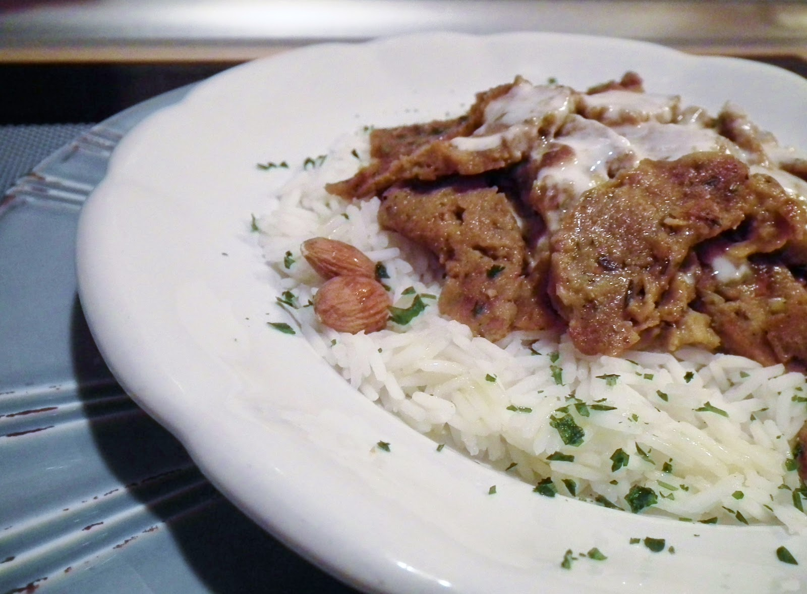 piatto kebab vegano (con muscolo di grano fatto in casa)