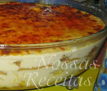Receita de pavê preparado com frango e creme de queijo