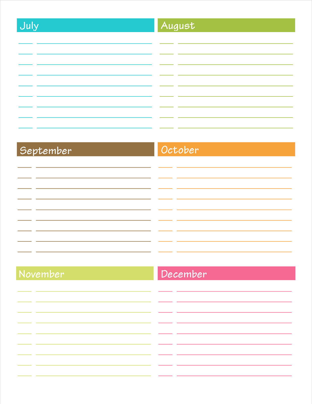 important dates template