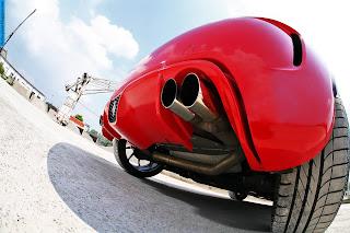 Fiat 500 car exhaust - صور شكمان سيارة فيات 500