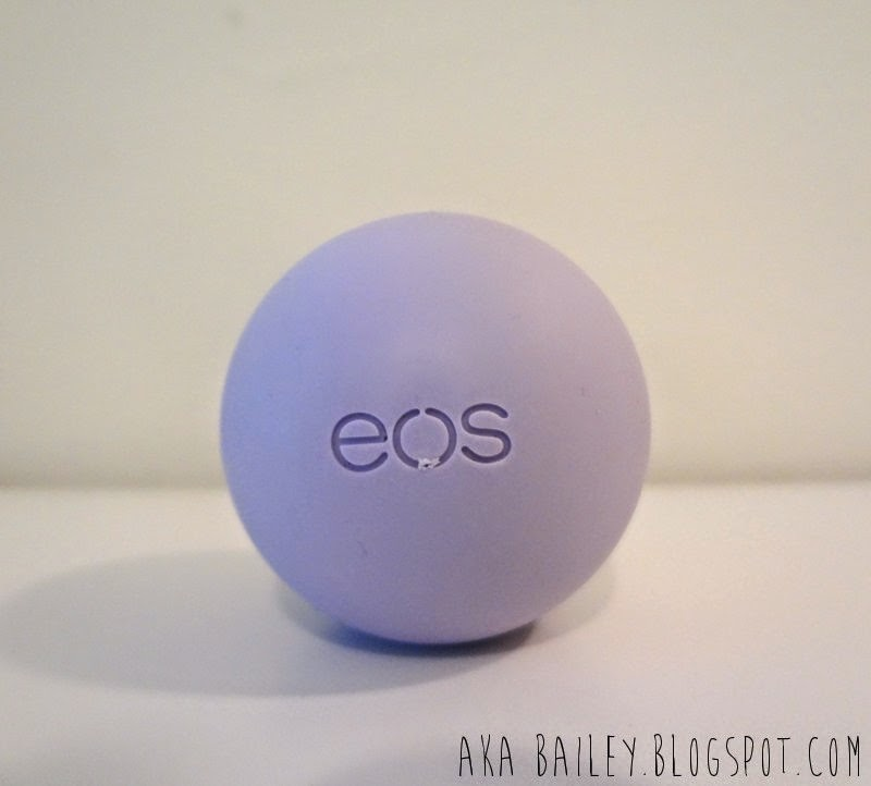 Purple Eos Lip Balm in Passion Fruit