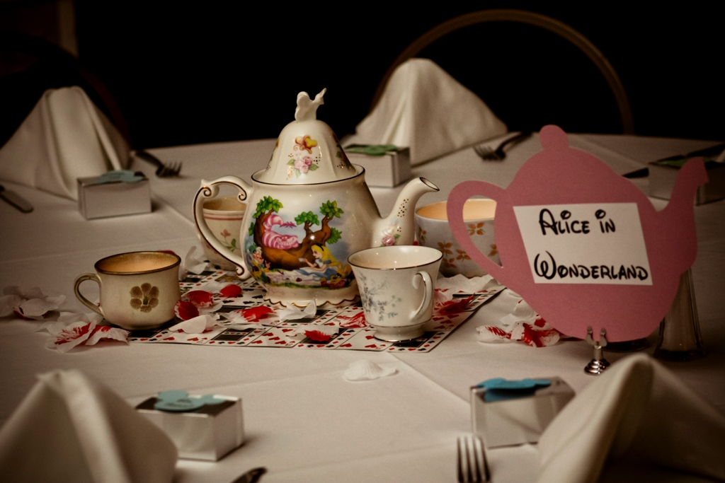 life disney wedding centerpieces