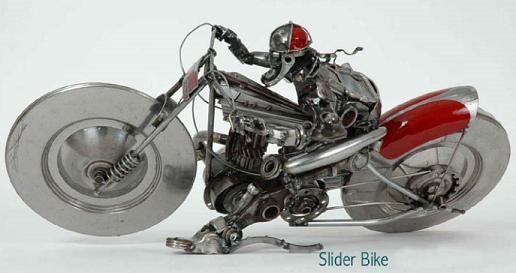 Motorcycle 74 Scrap Metal Art By James Corbett