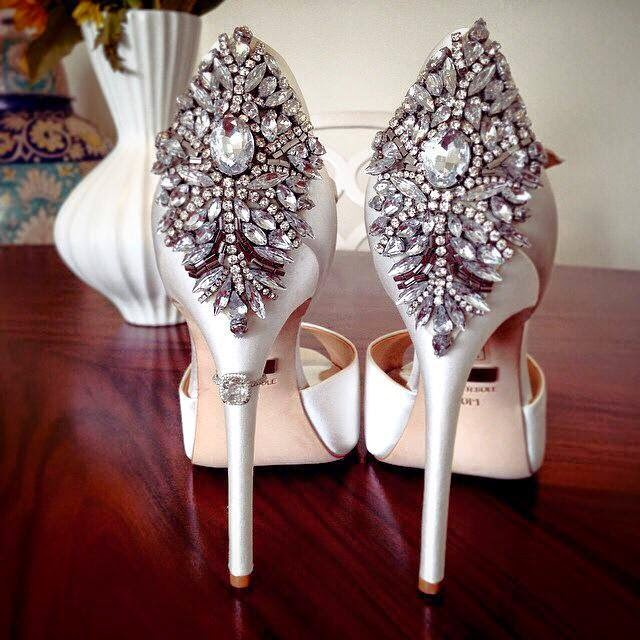 Ladiesfashionsense- badgley Mishka bridal shoes