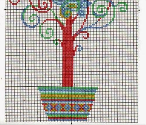 Схемы для вышивки крестом дерево желаний