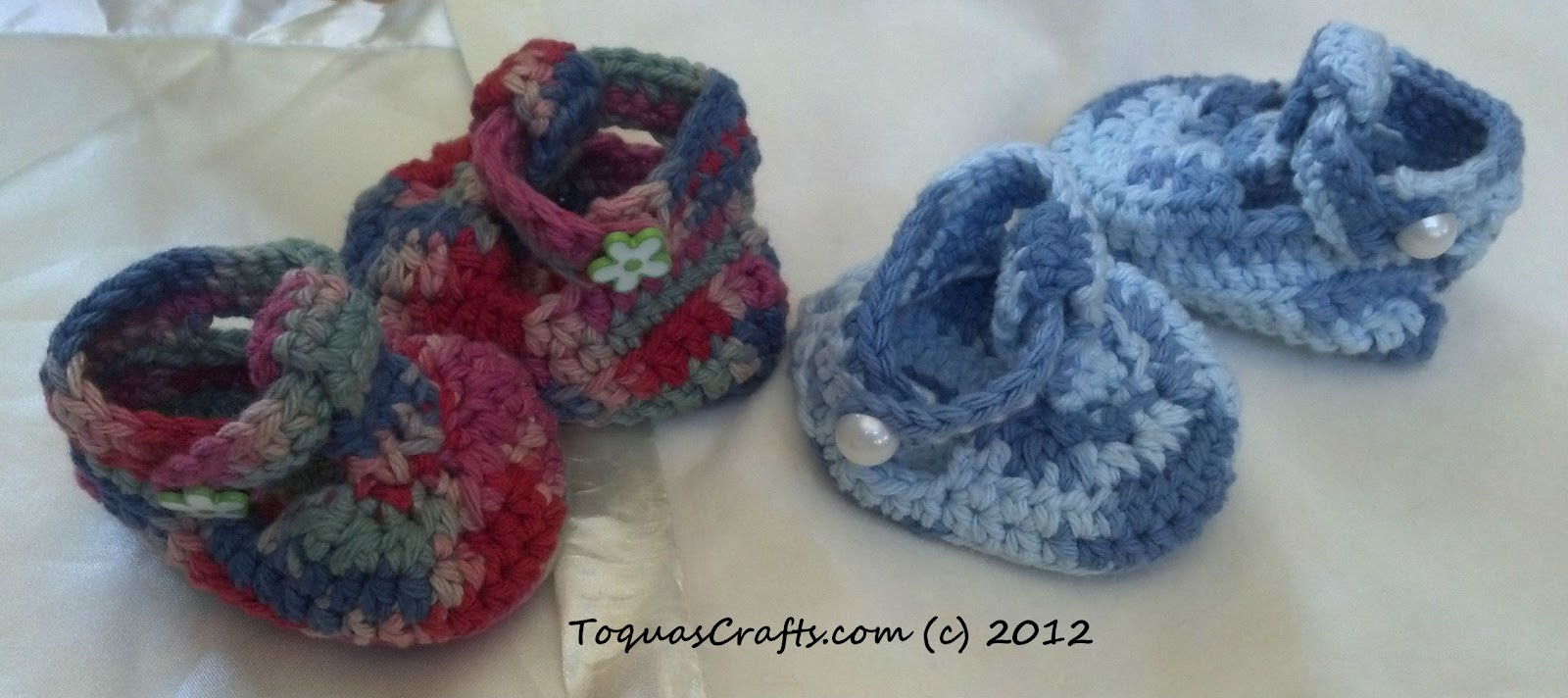 Free Crochet Pattern T Strap Booties : Toquas Crafts: T-Strap Baby Booties - Crochet Project