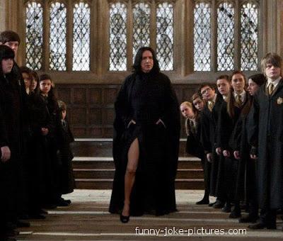 Funny harry potter severus snape leg photo joke