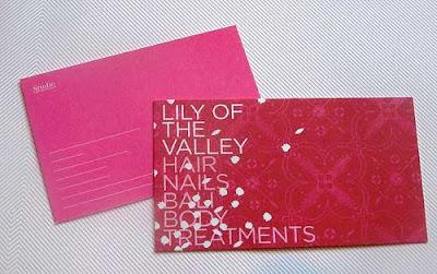 diseño de tarjetas personales color rosado