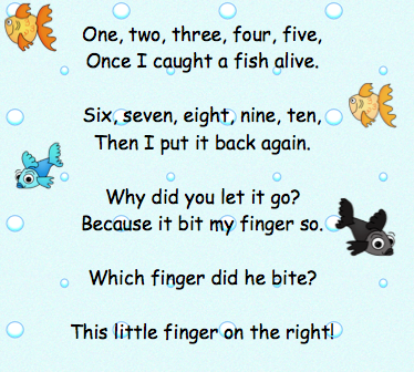 The very busy kindergarten fish alive song for The fish poem