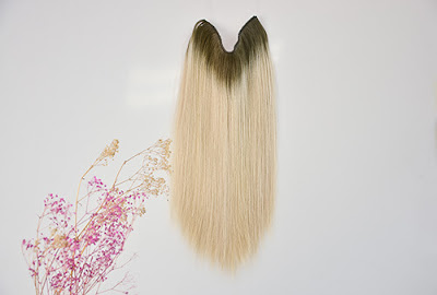 halo hair extensions ombre
