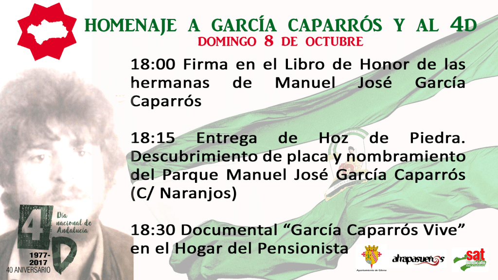 HOMENAJE A GARCÍA CAPAARRÓS Y AL 4D EN GILENA