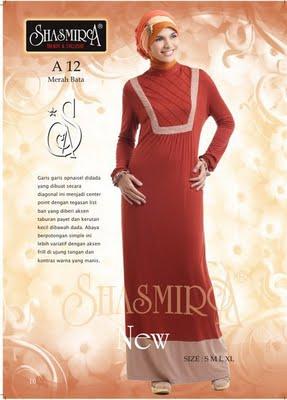 Busana Muslim shasmira A12 Merah