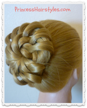 "Prom Updo ""star flower bun"" hairstyle"