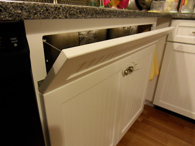 Kitchen Cabinet Alcove Towel Hook Quartz Counter