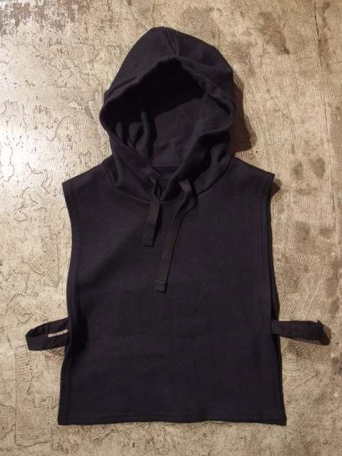 engineered garments hooded interliner cotton/wool jersey