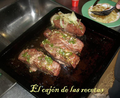 El caj n de las recetas entrecot al horno con pur de papas - Como cocinar un entrecot ...