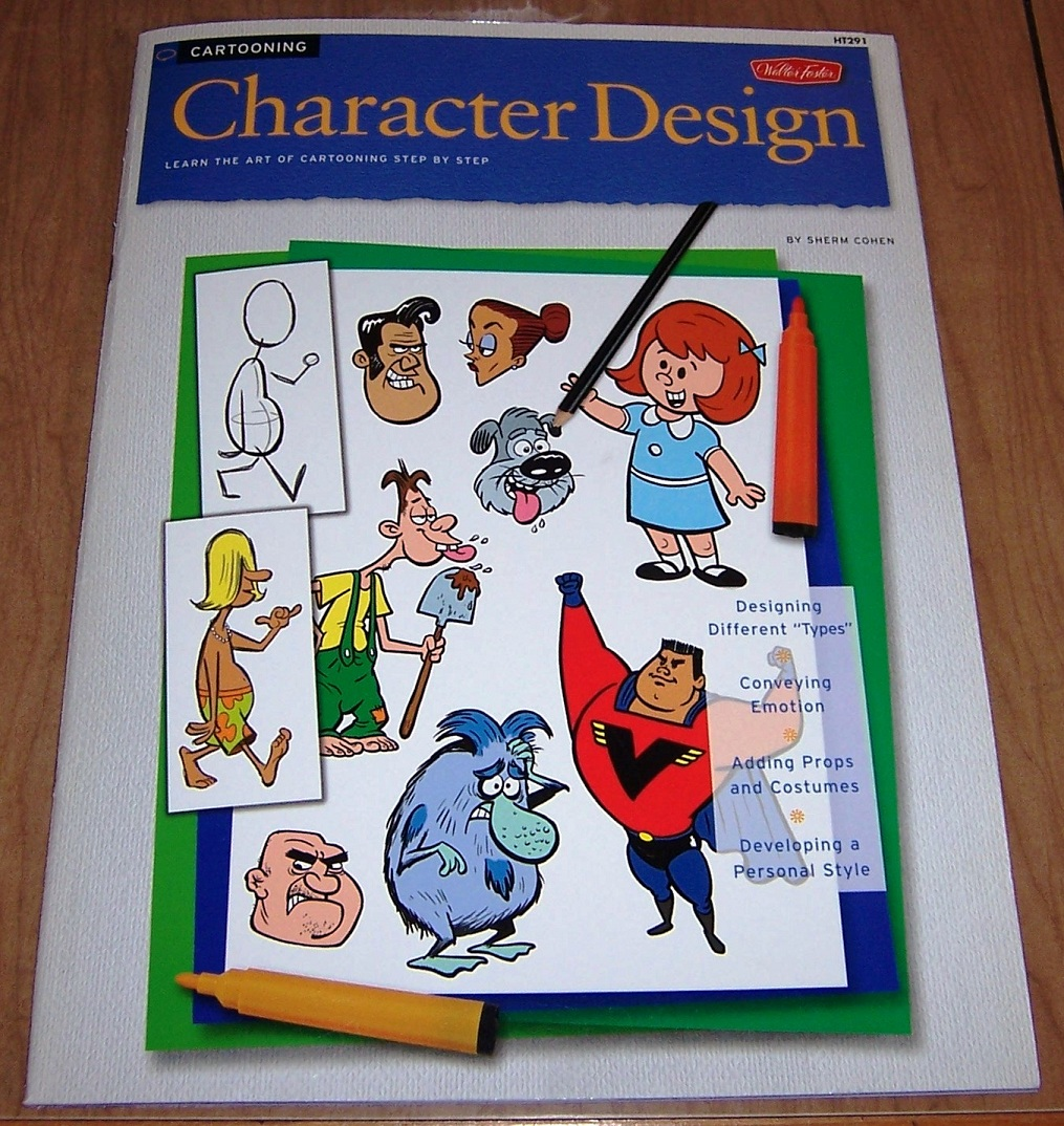 Cartooning Ultimate Character Design Book : David wasting paper winner of the sherm cohen quot character