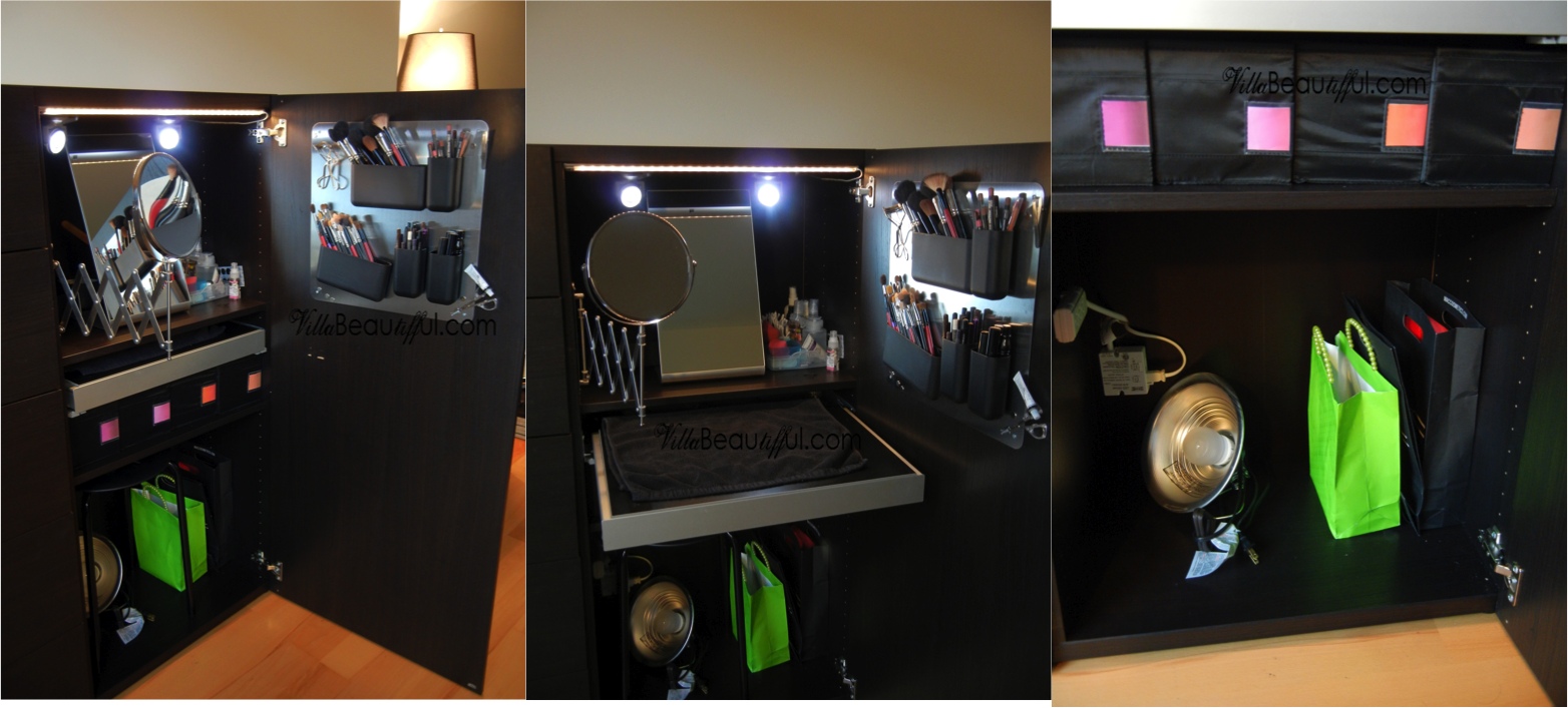 VillabeauTIFFul   My Makeup Of The Day U0026 Beauty Galore: My Makeup Vanity /Storage/Armoire