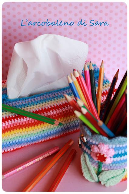 crochet copri veline multicolor