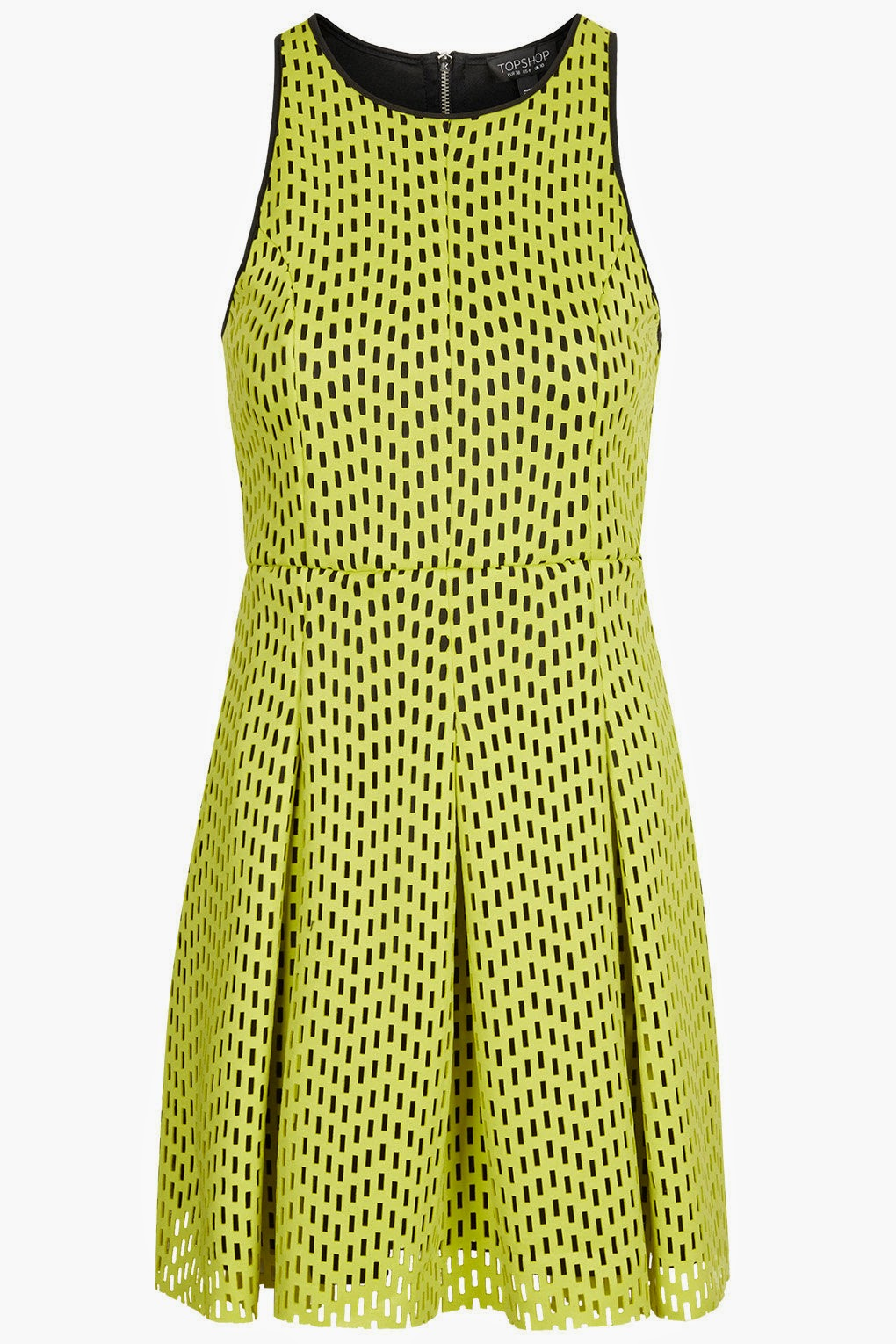 bright yellow topshop dress