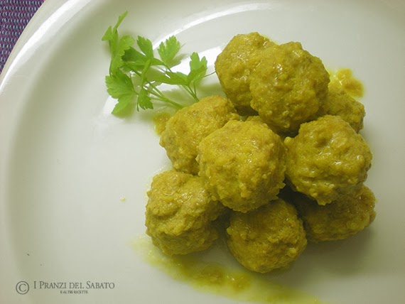meatballs with saffron