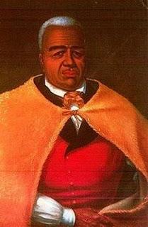 'Kamehameha I'. Retrato de autor desconocido, tomado de 'destructorbouchard.com'