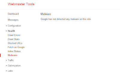Google Webmaster Tools Malware detector