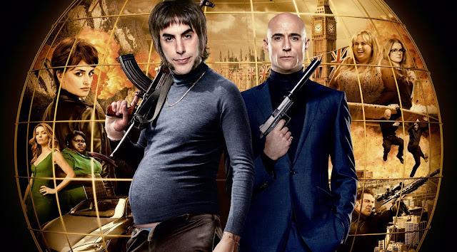 """Sacha Baron Cohen e Mark Strong no trailer da comédia de ação """"Irmão de Espião"""""""