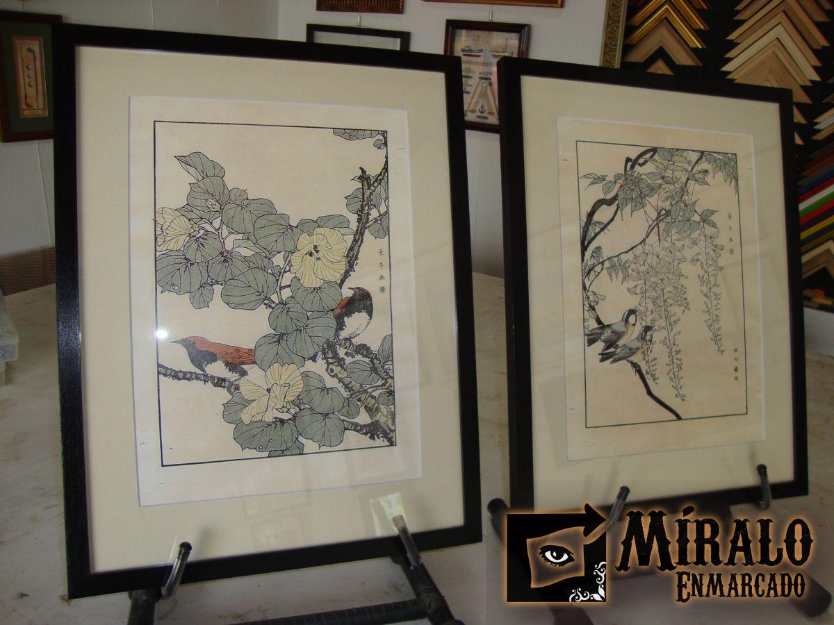 Enmarcado de l minas orientales marco y passepartout - Enmarcado de cuadros ...