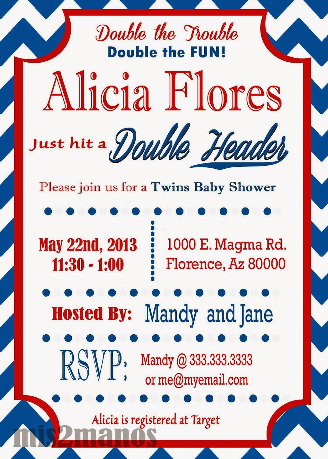made by my hands baseball baby shower invitation twins baby shower